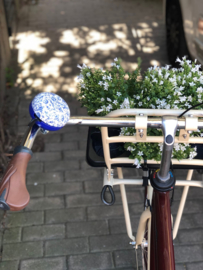 Fietsbel groot Delfts blauw - cadeautje juf