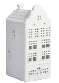 Waxinelichthouder Grachtenhuisje a - Set van 3
