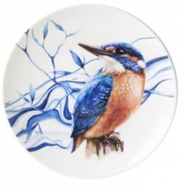 Bord Delfts blauw - IJsvogel - Ø 16 cm