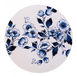 Wandbord Delfts blauwe Bloem - Ø 16 cm