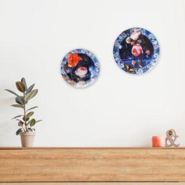 Wandborden Delfts Blauw 'Gouden Eeuw' - Set van 2