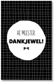 Meester Dankjewel | Mini kaart