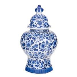Delfts blauw Vaas met deksel - Royal Delft - 32 cm - handgeschilderd