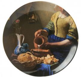 Wandbord Melkmeisje -  Ø 20 cm