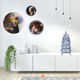 Wandbord Melkmeisje XL -  Ø 40 cm