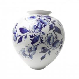 Bolvaas groot -  Delfts blauw - 20 cm