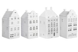 Waxinelichthouder grachtenhuisjes Rembrandthuis – set van 4