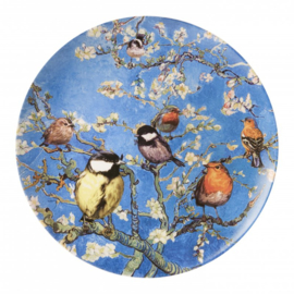 Wandborden Amandelbloesem Van Gogh en Vogels - Set van 3