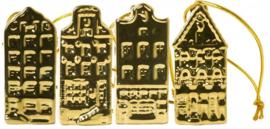 Grachtenhuisjes met lint - Set van 4