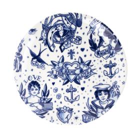 Wandbord - Delfts blauw - Schiffmacher - Ø 28 cm