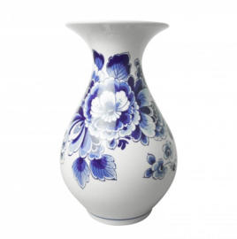 Delfts blauwe vaas - hoge vaas - 23 cm