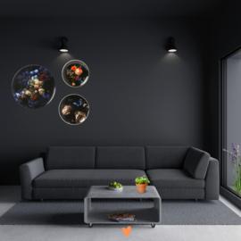 Stilleven met Bloemen - wandborden set van 3