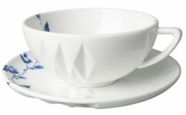 Kop en Schotel Blauw Vouw - ø 15 cm