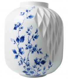 Bloemenvaas Blauw Vouw - 25 cm