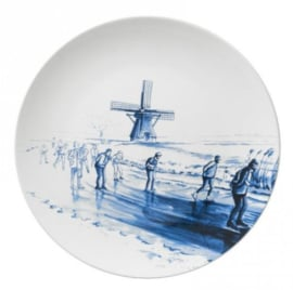 Wandbord Friesland - Elfstedentocht - Ø 26,5 cm
