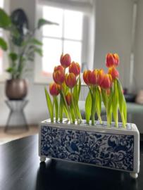 Tulpenvaas Rijksmuseum - rechthoek  brick - 12 cm