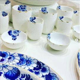 Cappuccino Mok Delfts blauw Bloesem - 11 cm