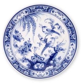 Wandbord - Royal Delft - Vogels - Ø 20 cm