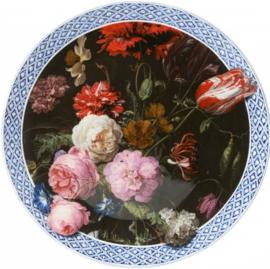 Wandbord Delfts Blauw 'Gouden Eeuw' - Ø 31,5 cm