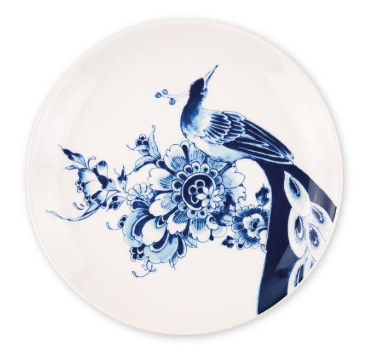 Royal Delft - dessertbord - Peacock Symphony - Ø 21,5 cm
