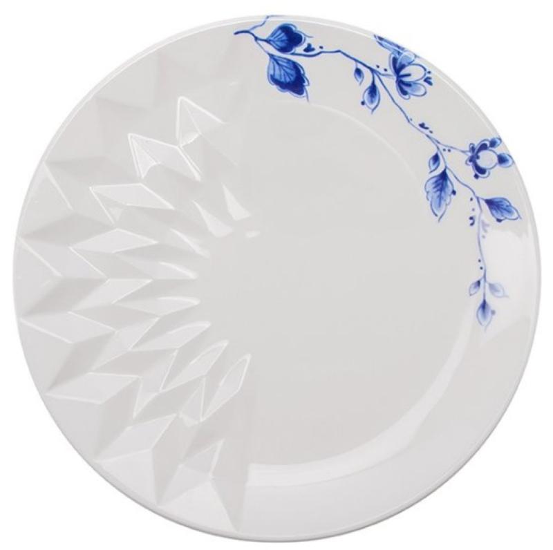 Gebaksbordje Blauw Vouw - ø 18 cm
