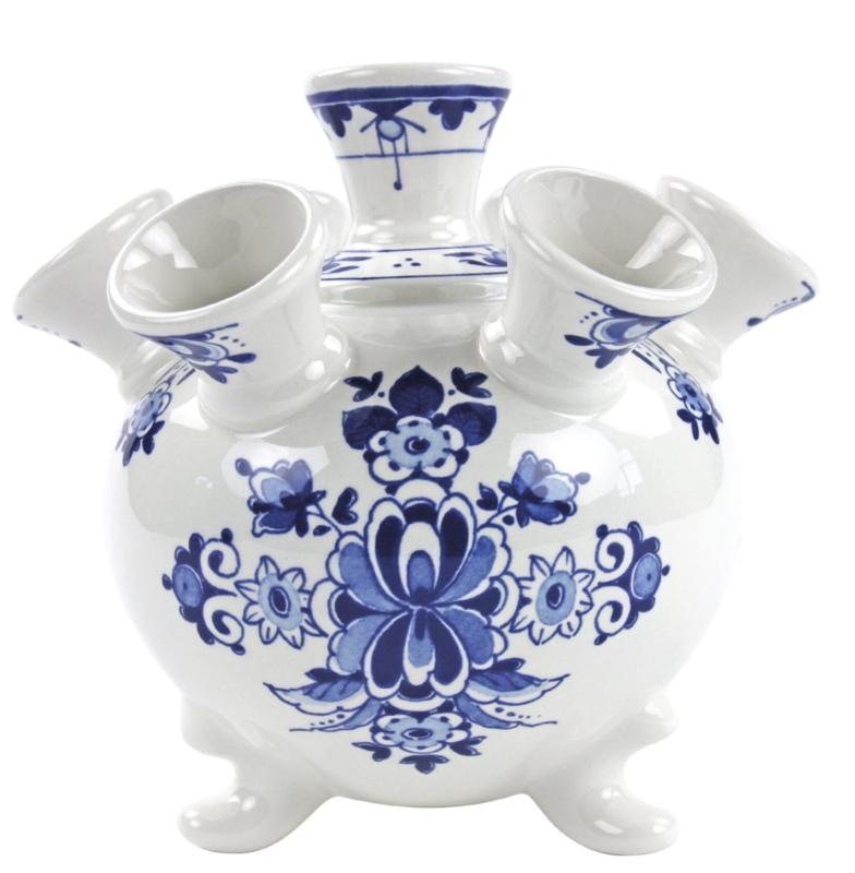 Tulpenvaas Delfts blauw - 17 cm