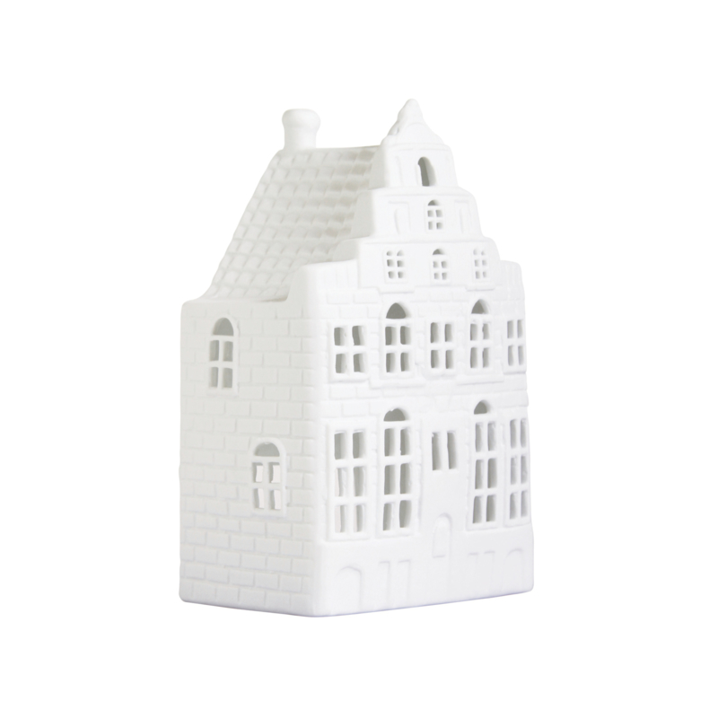 Waxinelichthouder Grachtenhuis - Trapgevel - Groot