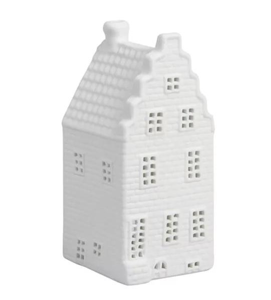 Waxinelichthouder huisje - Trapgevel - 13,5 cm