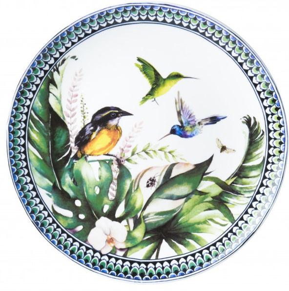 Wandbord Kolibrie en Suikerdiefje - Ø 26 cm