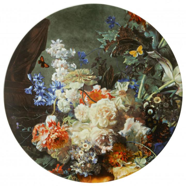 Bloemenpracht wandbord XL - Ø 40 cm