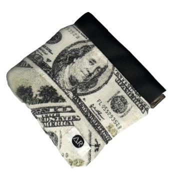 KNIJPPORTEMONNEE DOLLAR