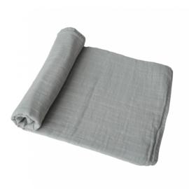 Mushie Muslin Swaddle Blanket Organic Cotton (Belgian Greay)