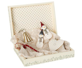 Maileg METAL ORNAMENTS GIFT SET, RED