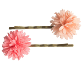 Maileg BOBBY PINS, CHIFFON FLOWERS, ROSE, 2 PCS