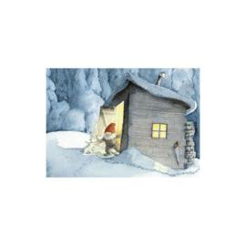 Elsa Beskow kaart Kerstman en de haas