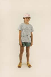 TinyCottons Friends Tee - Pale Grey/Ink Blue