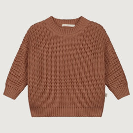 Yuki Originals - Chunky Knitted Sweater - Brick