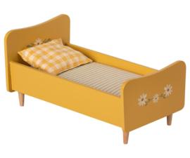 Maileg Houten bed, mini - geel