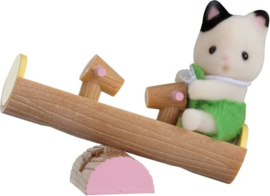 Sylvanian Families Baby Carry Case  Cat on See-saw