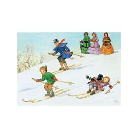 Elsa Beskow kaart Skiën