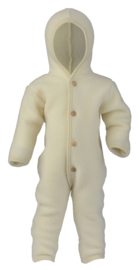 Engel Hooded overall with wooden buttons natural