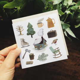 Gemma Koomen 'Winter in the Woods' greeting card