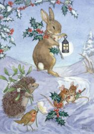 Molly Brett kaart 'Christmas Animals'