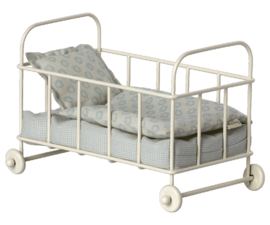 Maileg- cot bed micro blue