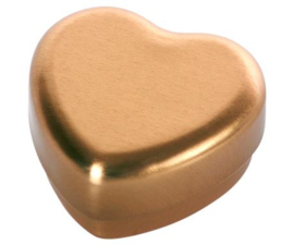 Maileg SMALL HEART BOX, GOLD