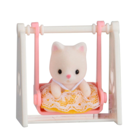 Sylvanian Families Baby Carry Case Cat on Swing