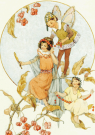 Margaret W. Tarrant kaart spindel berries