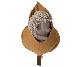 Maileg Hedgehog in leaf
