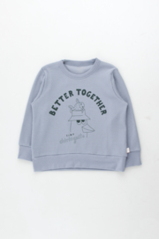 TinyCottons Friends Together Sweatshirt - Summer Grey/Ink Blue