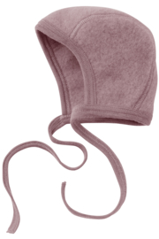 Engel baby-bonnet wool fleece rosenholz melange